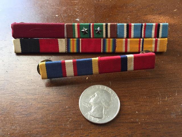 National Guard Ribbons - Vintage - Pins