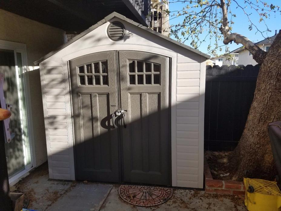 Storage Shed -Large 8 X 5 foot Resin Outdoor Backyard Shed