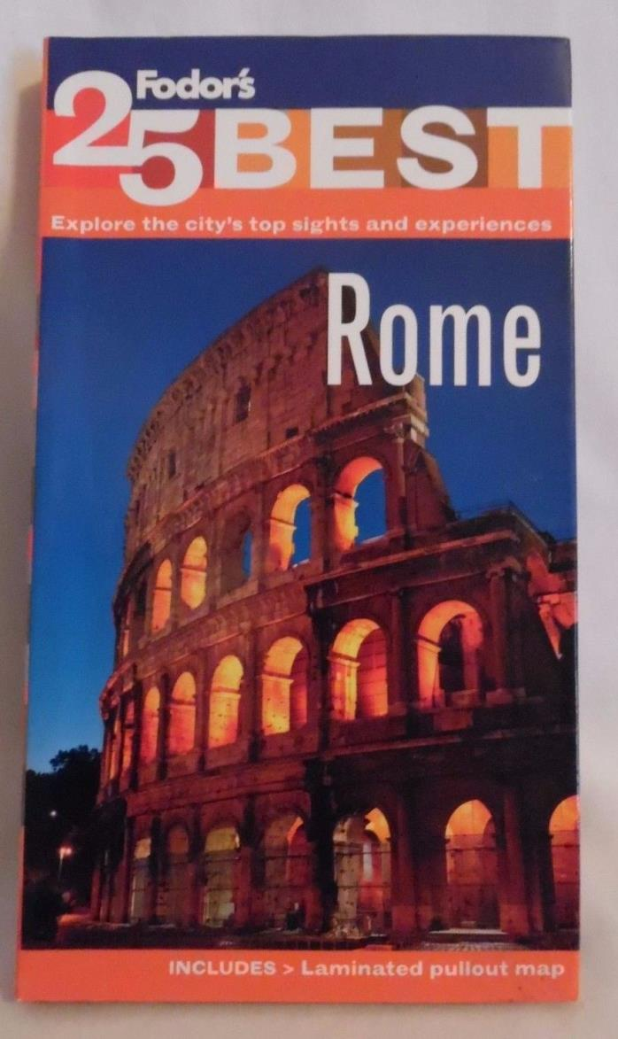 Travel Guide, Rome,Fodor's 25 Best, with Laminated Maps