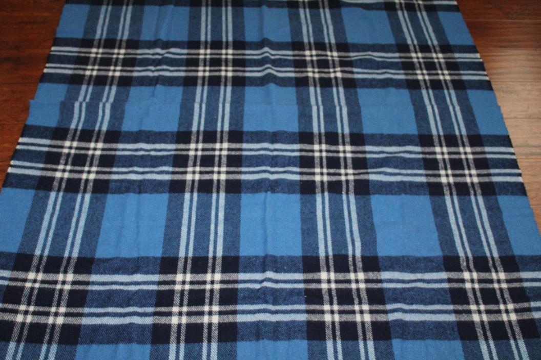 St. Andrews Woollen Mill All Wool, St. Andrews, Scotland Plaid Blanket 72X57IN