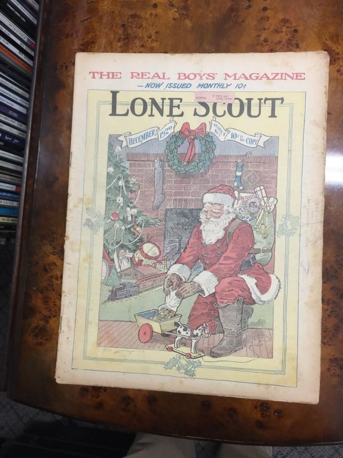 Lone Scout Magazine DEC 1920 VOL X #7 BOY SCOUTS SANTA CLAUS