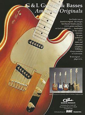 1992 G&L Commemorative SC3 S-500 Guitar L-2000 & ASAT Bass Print Ad