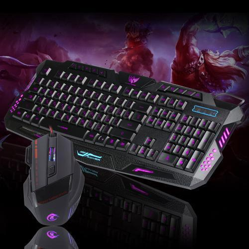 LED Gaming Wire 2.4G keyboard And 5500DPI Mouse Set to Computer Multimedia Gamer