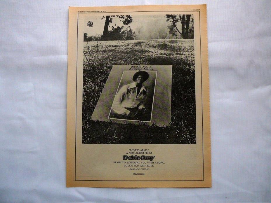 DOBIE GRAY LARGE  LP DISPLAY AD 1973 ROLLING STONE MAG