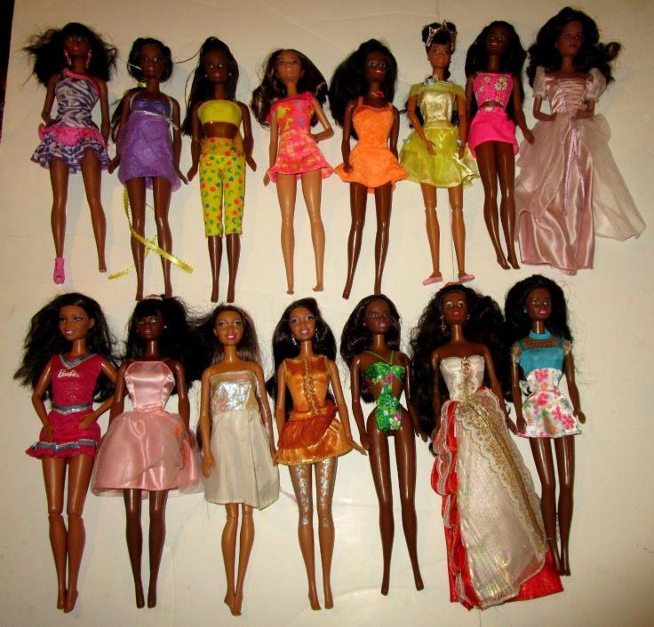 HUGE Barbie Doll African American Black Christie Vintage Lot OOAK AA Play Lot
