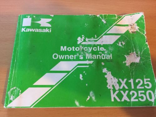 Kawasaki Owner's Manual - KX125 & KX250