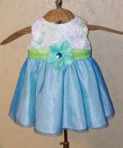 RARE EDITION Baby Lined Multi Floral Tulle Girl Dress Size 6M