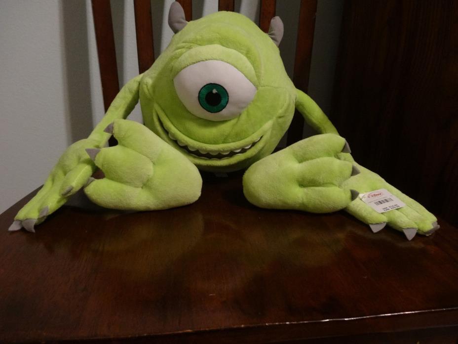 NEW, Mike Wazowski Monsters Inc Disney Plush with Tags