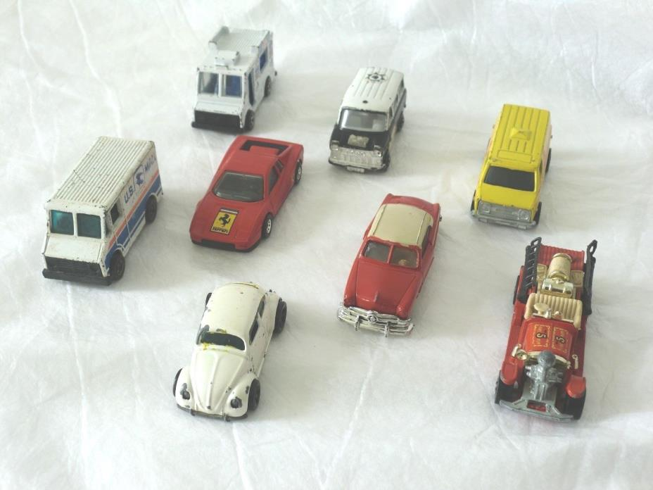 Hot Wheels Die-Cast Ferrari Testarossa Good Humor Paramedic Ambulance Lot of 8