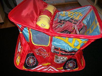 Fire Truck Storage Bin Toy Box