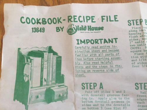 1975 YIELD HOUSE Vintage DIY craft KIT-Pine Wood SHELF+drawers NOS book COTTAGE