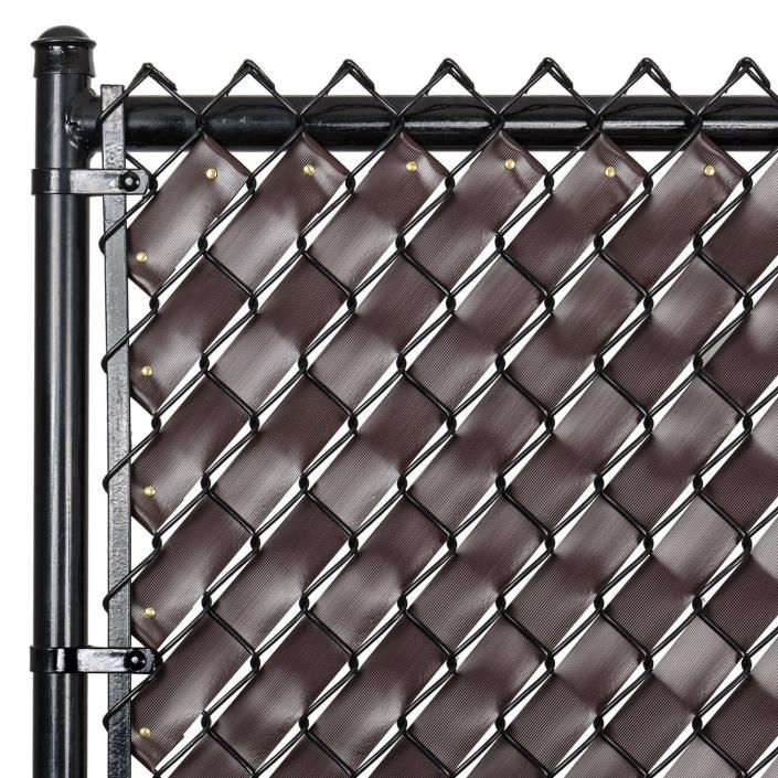 Chain Link Fence Weave Chocolate Brown Color Privacy UV Shade Awning Filler New