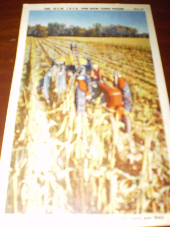 New Idea One Row Corn Picker, postcard