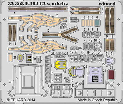 Eduard 1/32 F-104 Starfighter C2 Seatbelt (Italeri) 32808