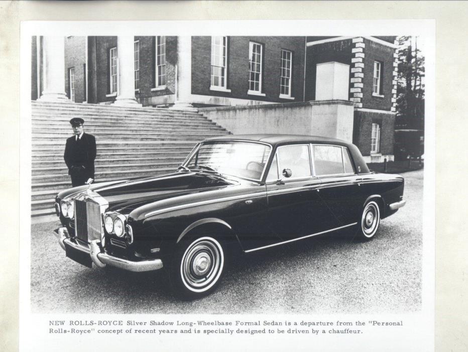 1971 Rolls Royce Silver Shadow Sedan ORIGINAL Factory Photograph ww7060