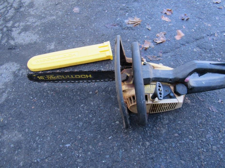 mcculloch power mac 330 chainsaw for parts