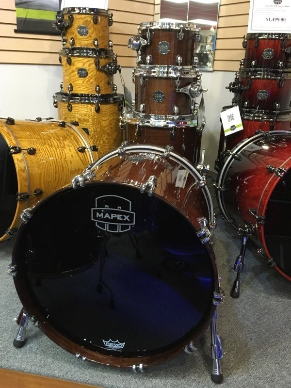 Mapex Saturn IV Transparent Walnut MH Edition 4 pc Drum Set SNM529XFTW !