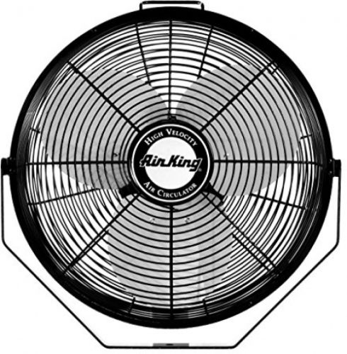 Air King 9312 Powder-Coated Steel Multi-Mount Wall Fan, Black