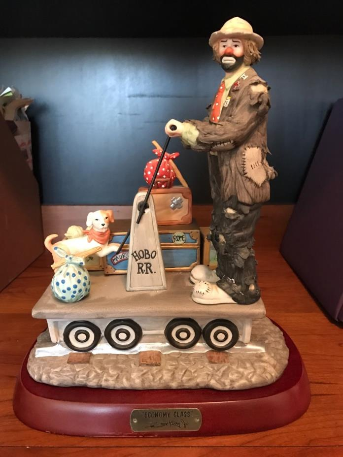 Emmett Kelly signed collectible