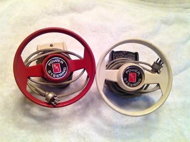 Vintage slot car race track steering wheel