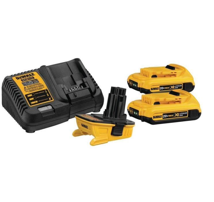DEWALT DCA2203C 20-Volt MAX Battery Adapter Kit for 18-Volt Tools