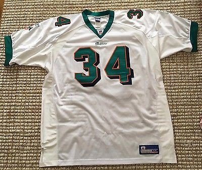 MIAMI DOLPHINS RICKY WILLIAMS AUTHENTIC NFL REEBOK JERSEY Size 56