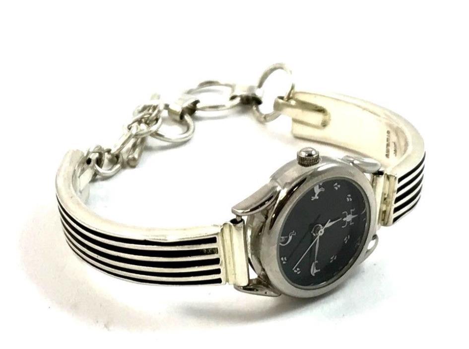Native American Sterling Silver Watch Tips w/ Watch