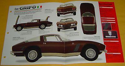 64 65 66 68 69 1967 Iso Grifo V8 5359cc 327 ci 350 hp IMP Info/Specs/Photo 15x9