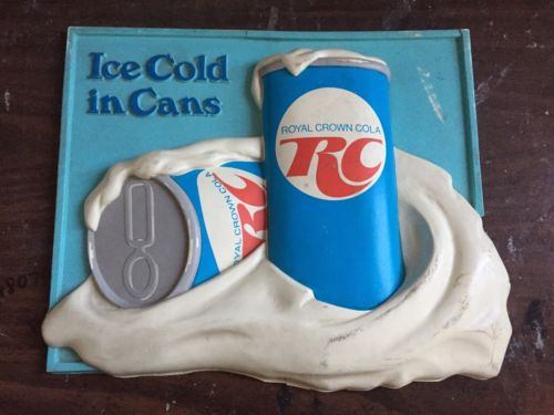 Vintage Rc Cola Royal Crown Sign