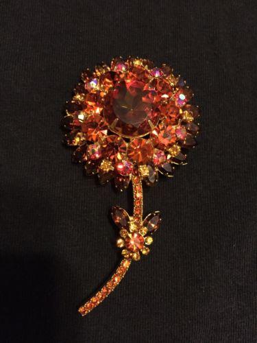 Vintage Juliana D&E Flower Brooch