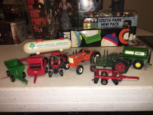 Farm Tractors And Farm Equipment  8 Piece Lot DIE CAST