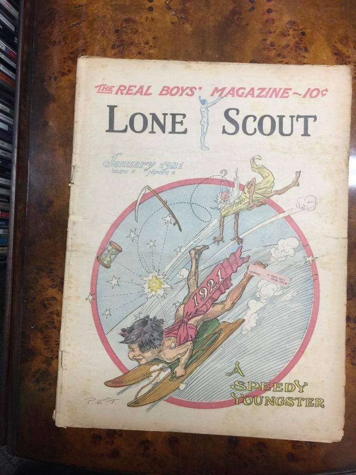 Lone Scout Magazine JAN 1921 VOL X #8 BOY SCOUTS NEW YEAR
