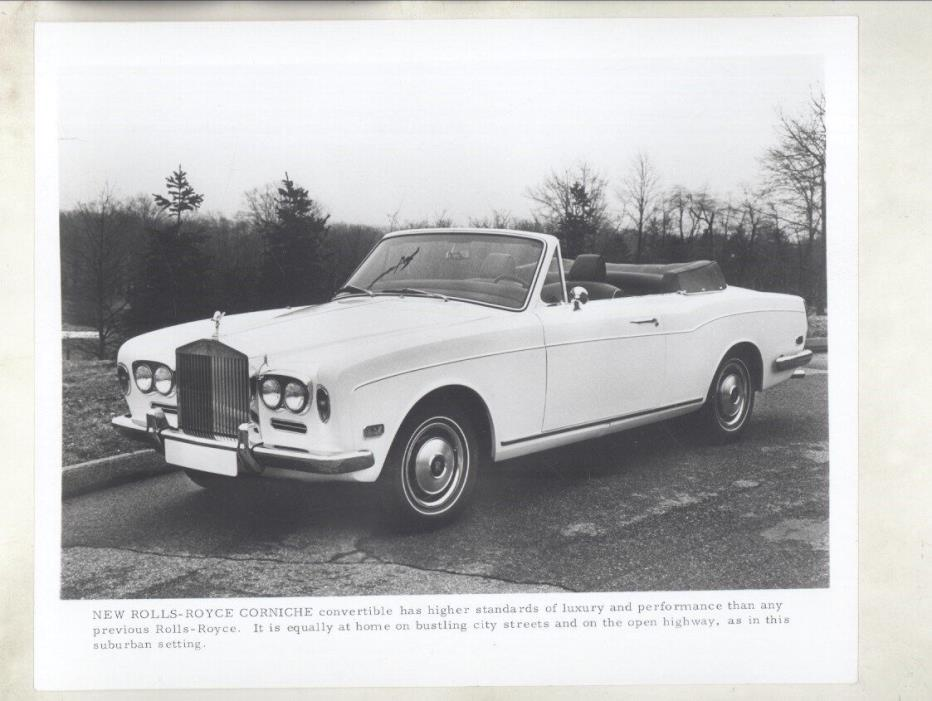 1971 Rolls Royce Corniche ORIGINAL Factory Photograph ww7059