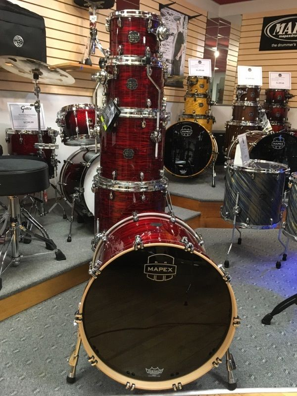 Mapex Saturn IV Red Pearl Strata MH Edition 5 pc Drum Set SNM628XPC !