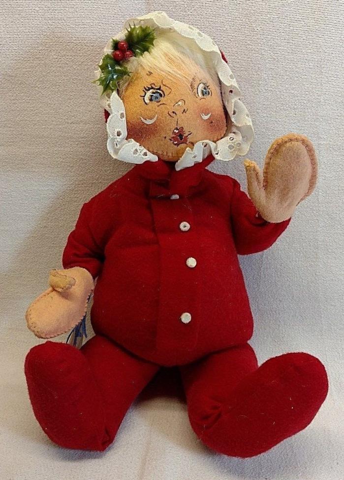 Annalee Dolls - 1992 12-inch Red PJ Baby