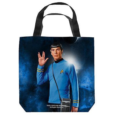 Star Trek Spock Tote Bag White 13X13
