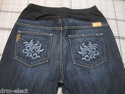 Paige Denim Maternity Jeans 30 X 30 S Laurel Canyon Low Rise Boot Cut a6 W@W~!