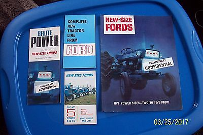 FORD TRACTOR BROCHURES 1964