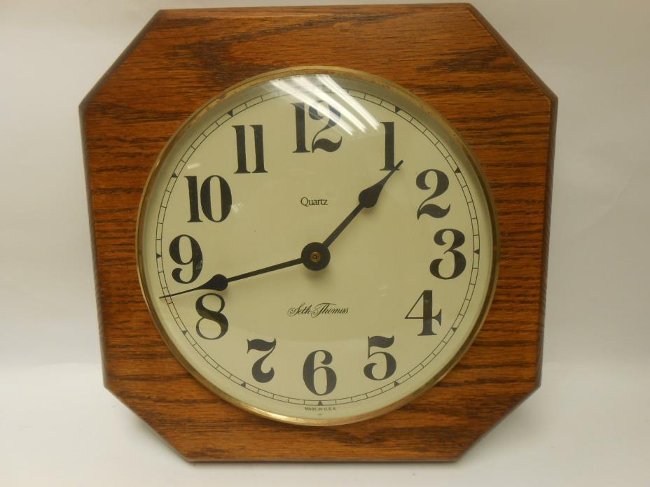 Vintage Seth Thomas Wall Clock, Battery Operated
