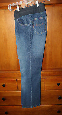 DUO MATERNITY Small Light Blue Denim Jeans Cotton/Spandex
