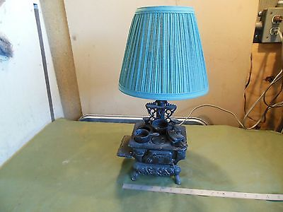 Cast Iron Toy Stove Lamp and accessories