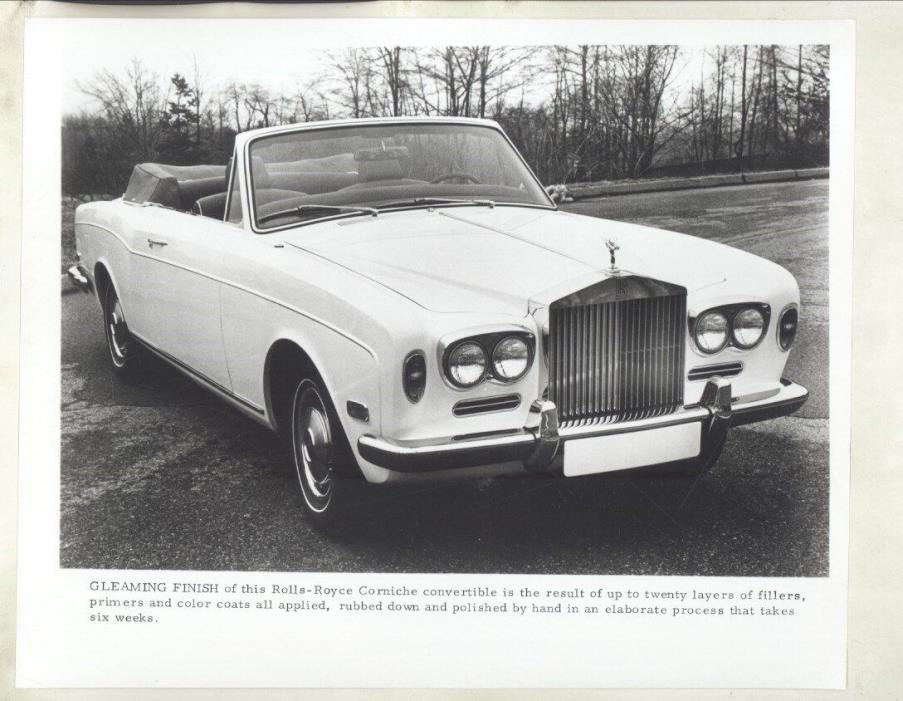 1971 Rolls Royce Corniche ORIGINAL Factory Photograph ww7063