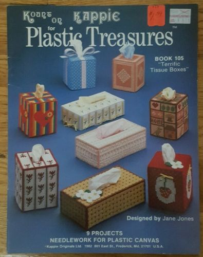 Tissues Plastic Canvas Tissue Holders Kount On Kappie Book 105