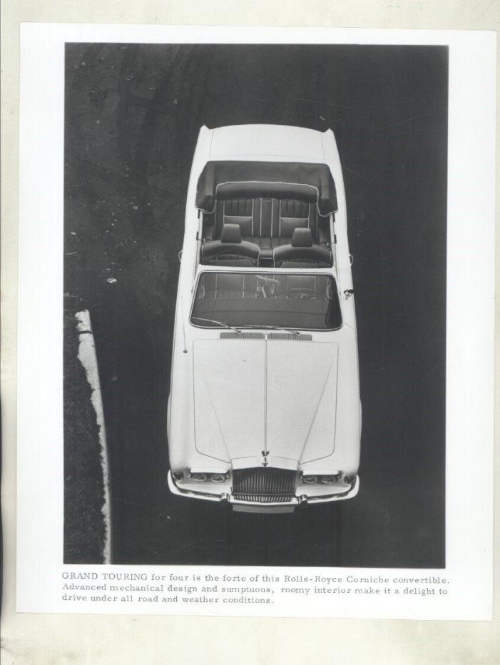 1971 Rolls Royce Corniche ORIGINAL Factory Photo & Press Release ww7056