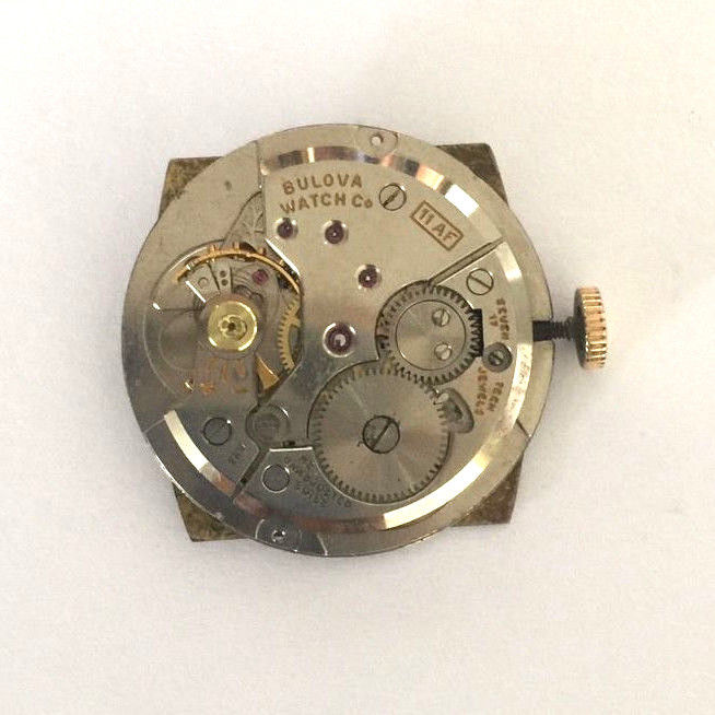 VINTAGE BULOVA M3 11AF 10K R.G.P. WATCH 17 JEWELS SWISS PARTS REPAIR ONLY