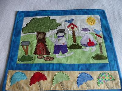 QUILTED &  APPLIQUED STITCH CONNECTION WALL HANGING EASTER 23 X  20