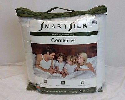Smart Silk White Queen Comforter size 88