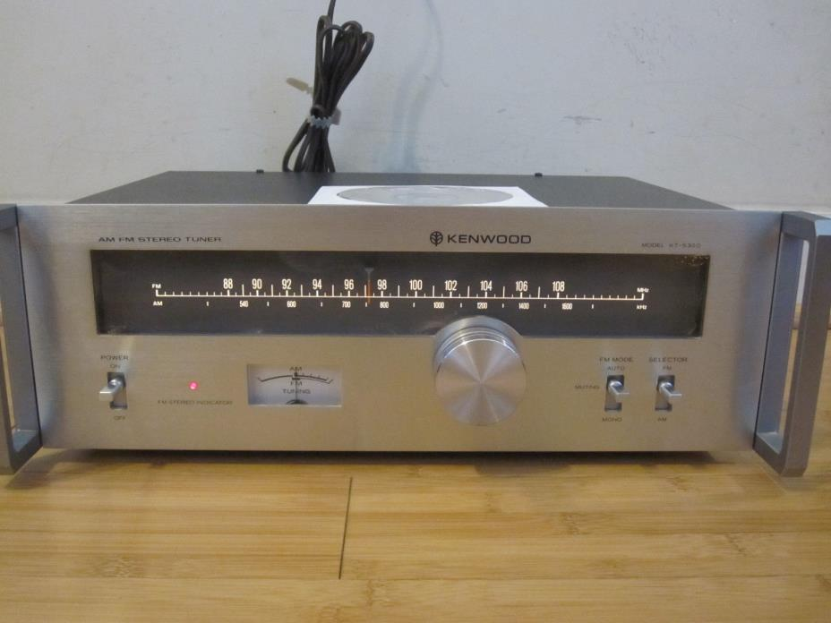Kenwood KT-5300 Vintage FM Stereo/AM Tuner w/Manual Tested Free Shipping