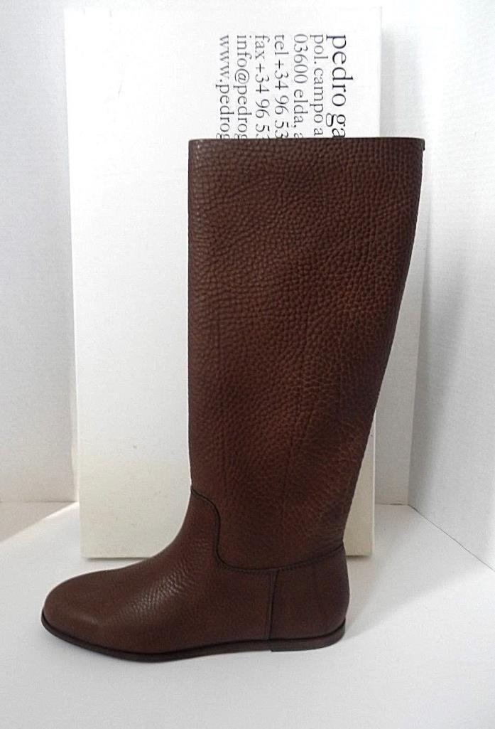 $725 PEDRO GARCIA Ylva Silt Cervo Knee High Flat Leather Boot Sze 8.5