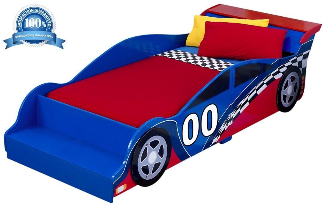 Race Car Modern Toddler Bed Racecar Convertible Kids Children Bedroom Furniture